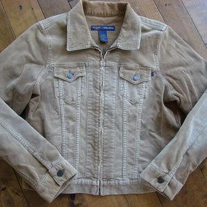 Abercrombie & Fitch Beige Corduroy Jacket SOFT!!!